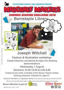 SRC joseph witchall Poster Mischief Makers Devon Libraries